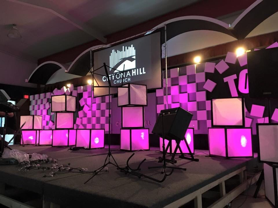 Best ideas about DIY Stage Lighting . Save or Pin City A Hill Church DIY stage and back panel design All Now.