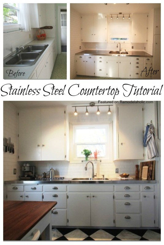 Best ideas about DIY Stainless Steel Countertops . Save or Pin Remodelaholic Now.