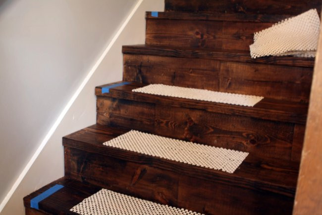Best ideas about DIY Stair Treads . Save or Pin DIY Stair Runner What Emily Does Now.