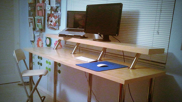 Best ideas about DIY Standing Desk Ikea . Save or Pin Build a DIY Wide Adjustable Height IKEA Standing Desk on Now.