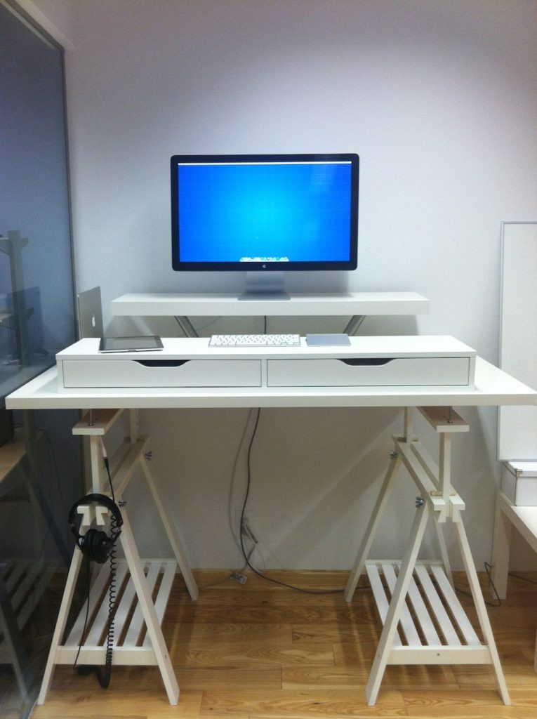 Best ideas about DIY Standing Desk Ikea . Save or Pin 18 Coolest DIY IKEA Desk Hacks To Try Shelterness Now.