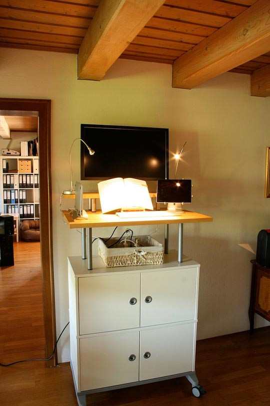 Best ideas about DIY Standing Desk Ikea . Save or Pin 20 DIY Desks That Really Work For Your Home fice Now.