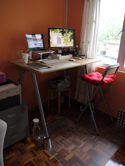 Best ideas about DIY Standing Desk Ikea . Save or Pin DIY IKEA Standing Desk Hack adventures of a blogjunkie Now.