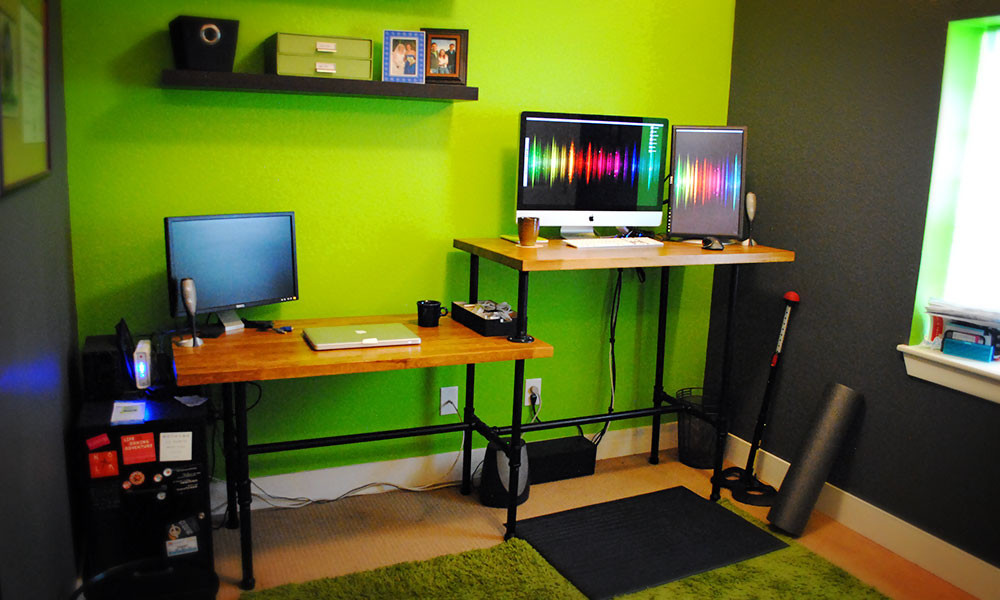 Best ideas about DIY Standing Desk Ikea . Save or Pin DIY Adjustable Standing Desk from Steel Pipe & Ikea Countertop Now.