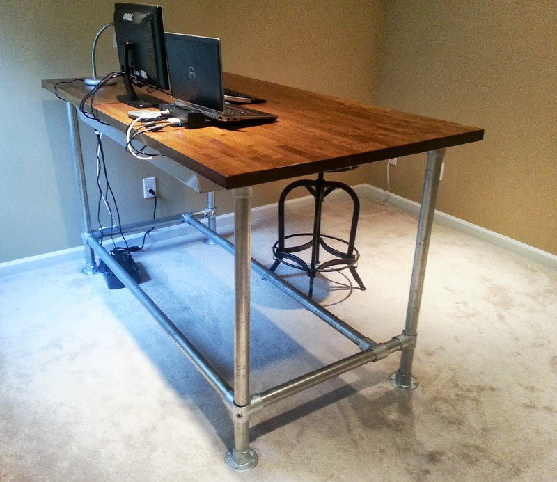 Best ideas about DIY Standing Desk Ikea . Save or Pin Standing up desk diy standing desk plans diy standing Now.