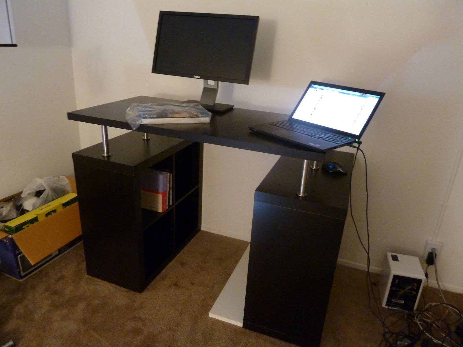 Best ideas about DIY Standing Desk Ikea . Save or Pin Short Blue Sky My DIY Standing Desk with IKEA parts Now.