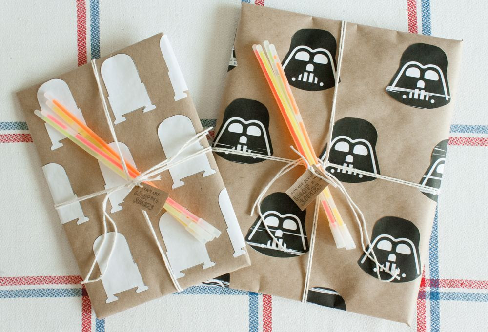Best ideas about DIY Star Wars Gifts . Save or Pin Star Wars t wrapping DIY Darth Vader and R2D2 Now.