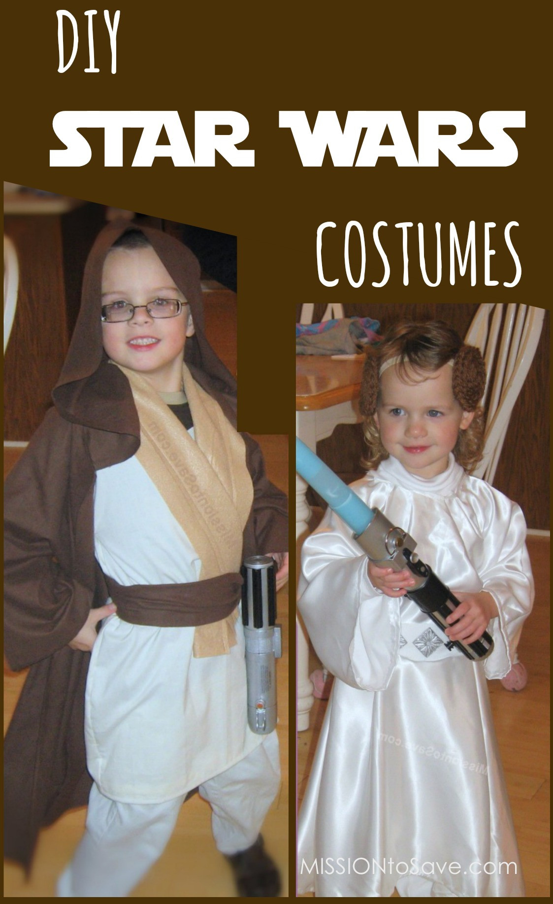 Best ideas about DIY Starwars Costume . Save or Pin DIY Star Wars Costumes Jedi and Princess Leia Mission Now.
