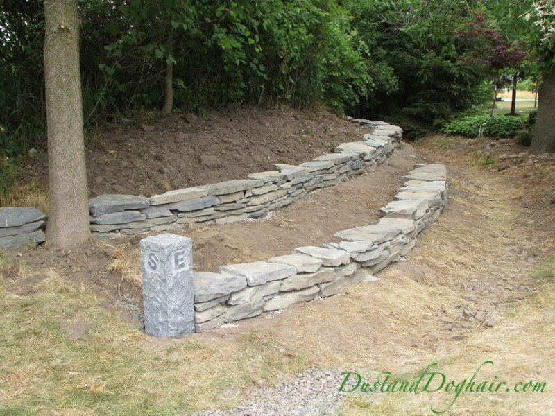 Best ideas about DIY Stone Wall . Save or Pin DIY Stacked Stone Retaining Wall – Part 2 – DustandDoghair Now.