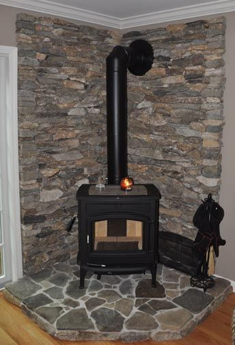 Best ideas about DIY Stone Wall Behind Wood Stove . Save or Pin 25 Best Ideas about Corner Wood Stove on Pinterest Now.