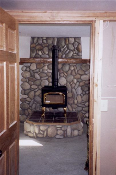 Best ideas about DIY Stone Wall Behind Wood Stove . Save or Pin 35 best images about Wood Stove Surrounds on Pinterest Now.