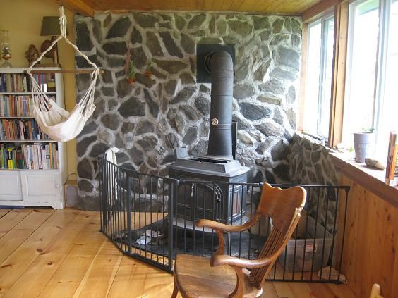Best ideas about DIY Stone Wall Behind Wood Stove . Save or Pin How to Build an Indoor Rock Wall 6 Steps with Now.