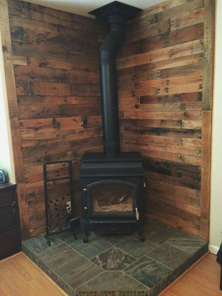 Best ideas about DIY Stone Wall Behind Wood Stove . Save or Pin 27 Stunning Fireplace Tile Ideas for your Home Now.