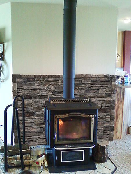 Best ideas about DIY Stone Wall Behind Wood Stove . Save or Pin 9 best woodburning stove ideas images on Pinterest Now.
