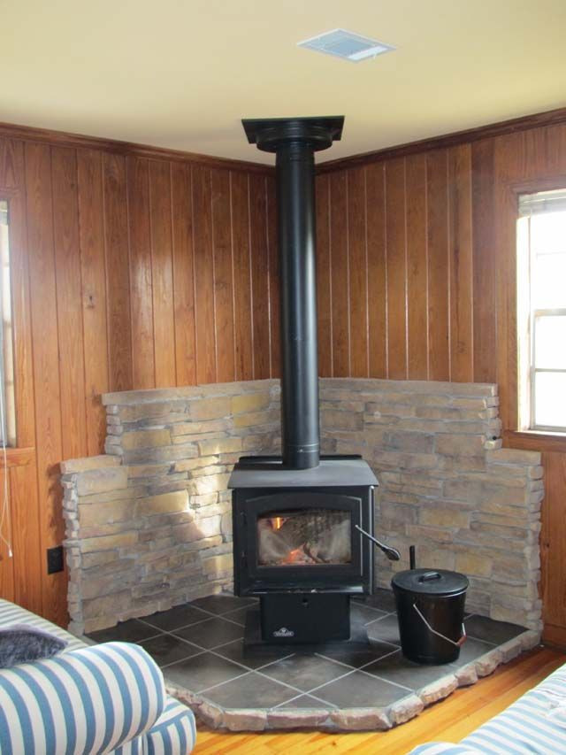 Best ideas about DIY Stone Wall Behind Wood Stove . Save or Pin Detailed description on how to build a tile & thin stone Now.