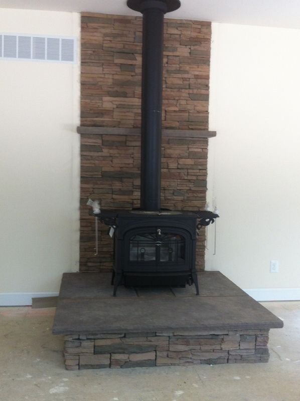 Best ideas about DIY Stone Wall Behind Wood Stove . Save or Pin 25 bästa Wood stove surround idéerna på Pinterest Now.