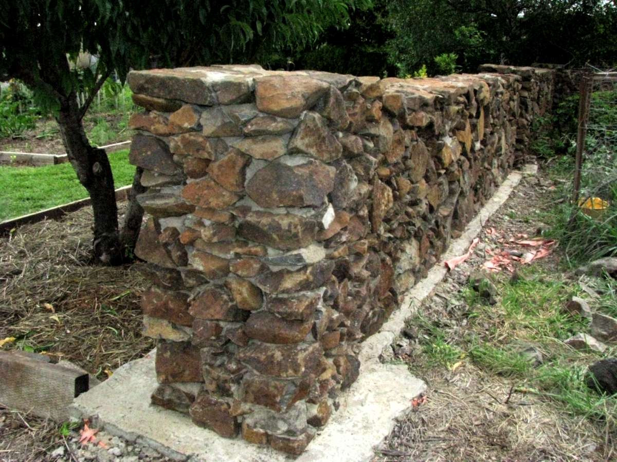 Best ideas about DIY Stone Wall . Save or Pin Building good looking stone walls Now.