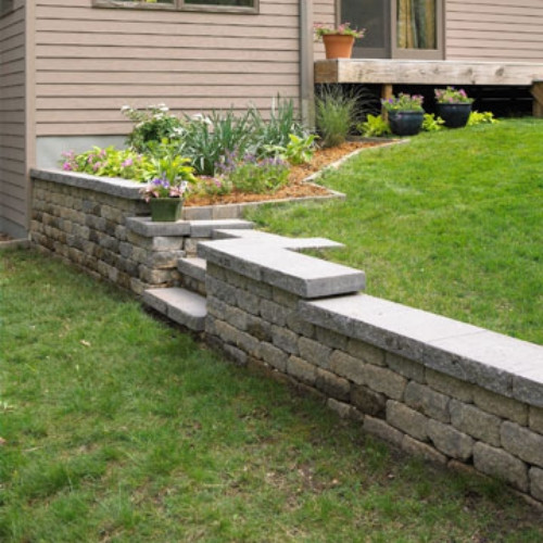 Best ideas about DIY Stone Wall . Save or Pin DIY Retaining wall in the garden simple and practical guide Now.