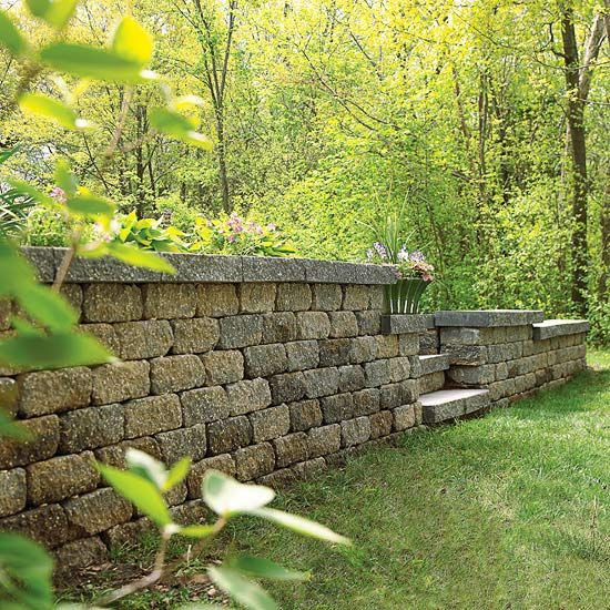Best ideas about DIY Stone Wall . Save or Pin Building A Fence A Sloped Yard WoodWorking Projects Now.