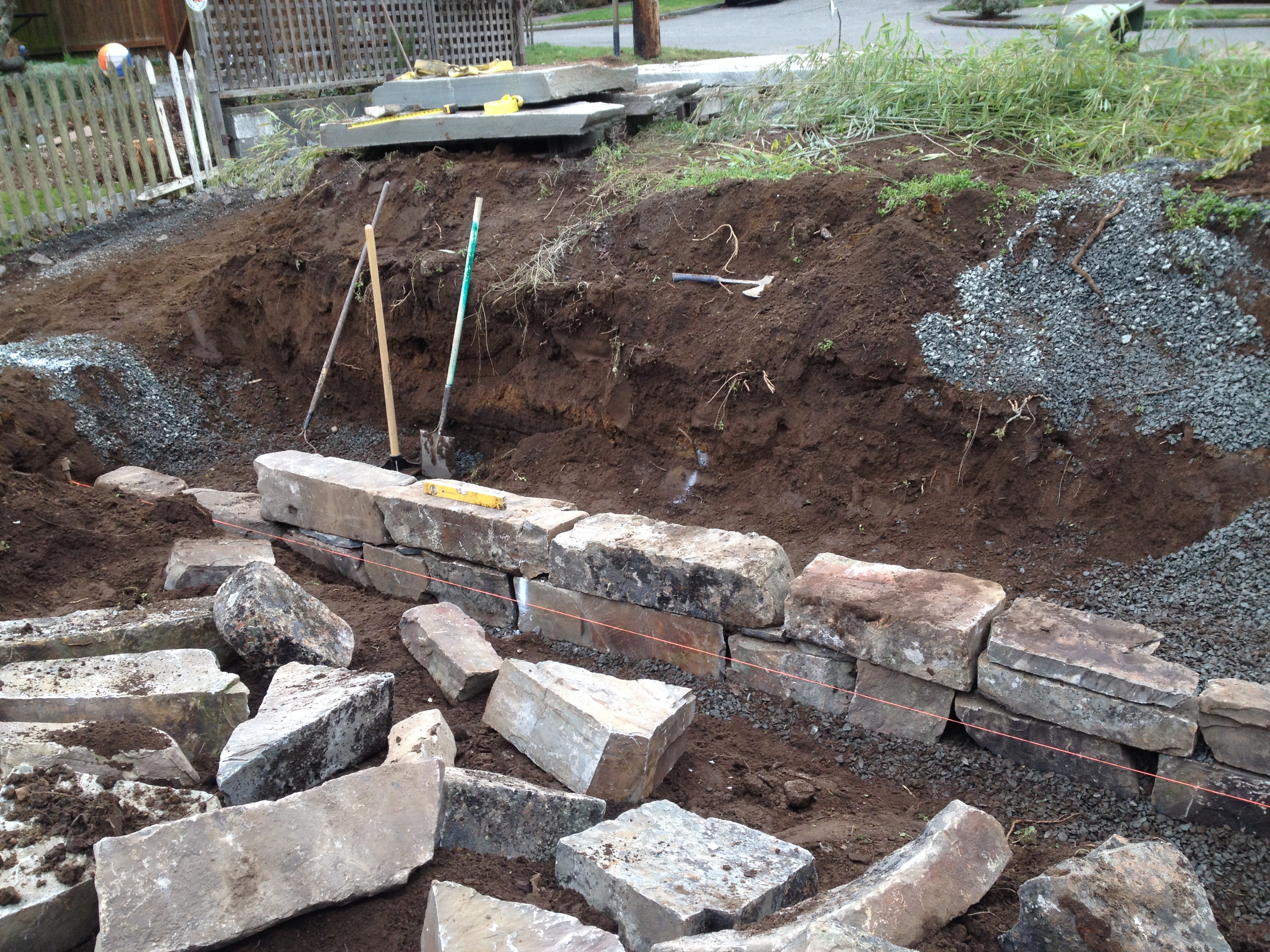 Best ideas about DIY Stone Wall . Save or Pin How to Build a Dry Stack Stone Retaining Wall Fasoldt Now.