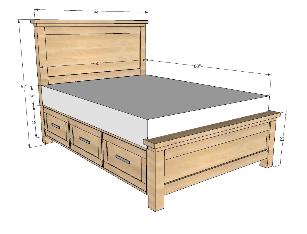 Best ideas about DIY Storage Bed Plans . Save or Pin Queen Storage Bed Plans Now.