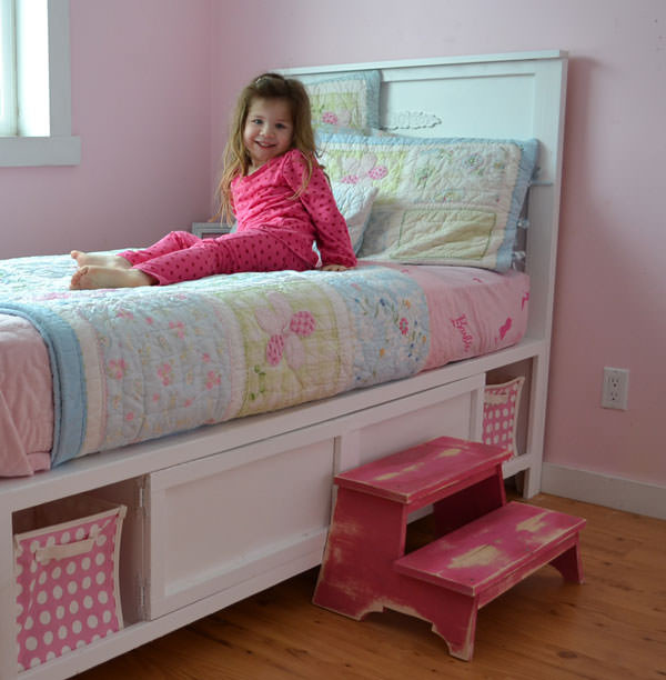 Best ideas about DIY Storage Bed Plans . Save or Pin 16 DIY Headboard Projects Now.