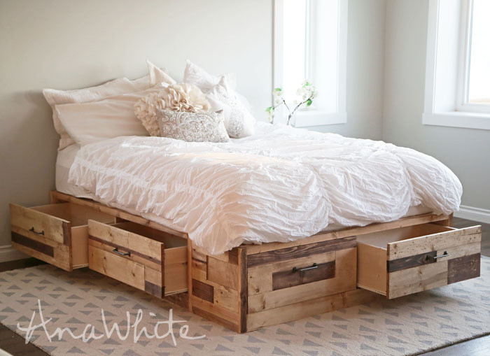 Best ideas about DIY Storage Bed Plans . Save or Pin Ana White Now.