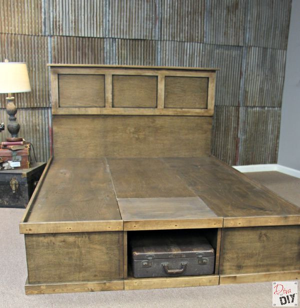 Best ideas about DIY Storage Bed Plans . Save or Pin How to Make Your Own DIY Platform Bed with Storage Now.