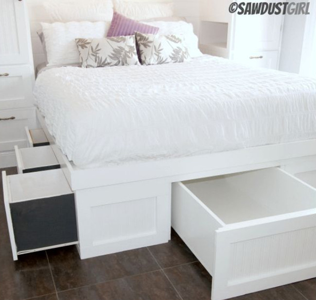 Best ideas about DIY Storage Bed Plans . Save or Pin Custom Beginner Guide Diy queen storage bed plans Now.