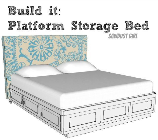Best ideas about DIY Storage Bed Plans . Save or Pin Cal King Platform Storage Bed Free Plans Sawdust Girl Now.