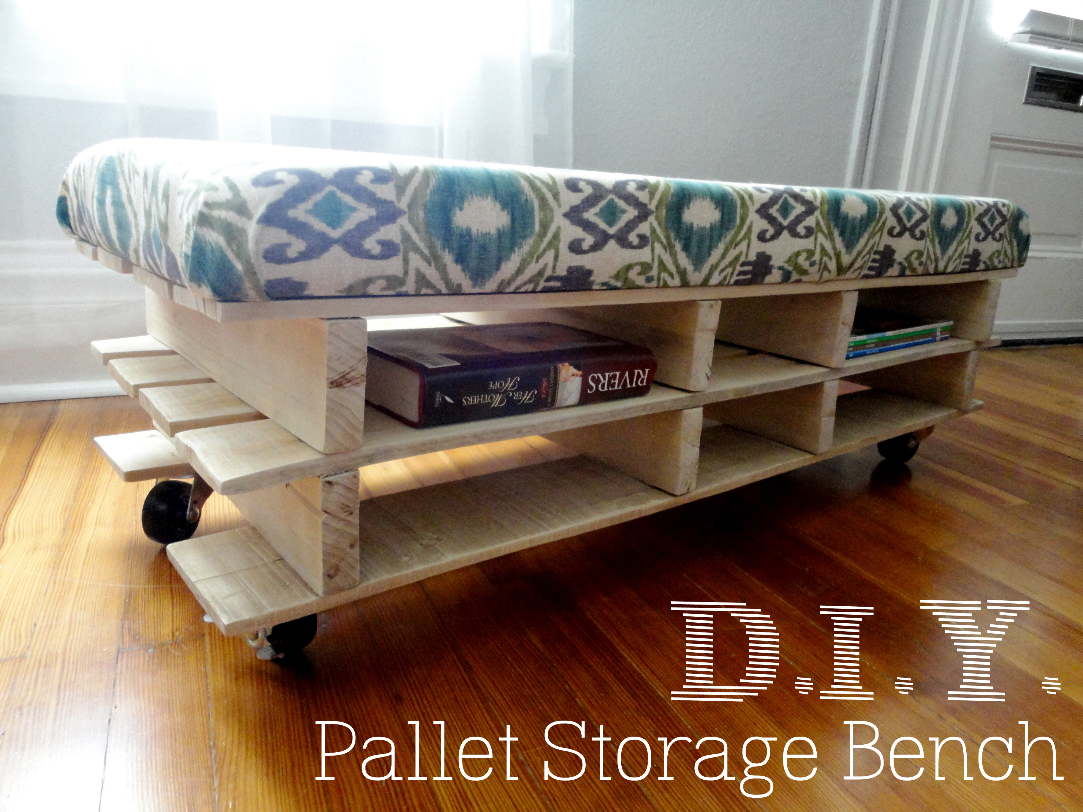 Best ideas about DIY Storage Bench . Save or Pin DIY Pallet Bench Now.