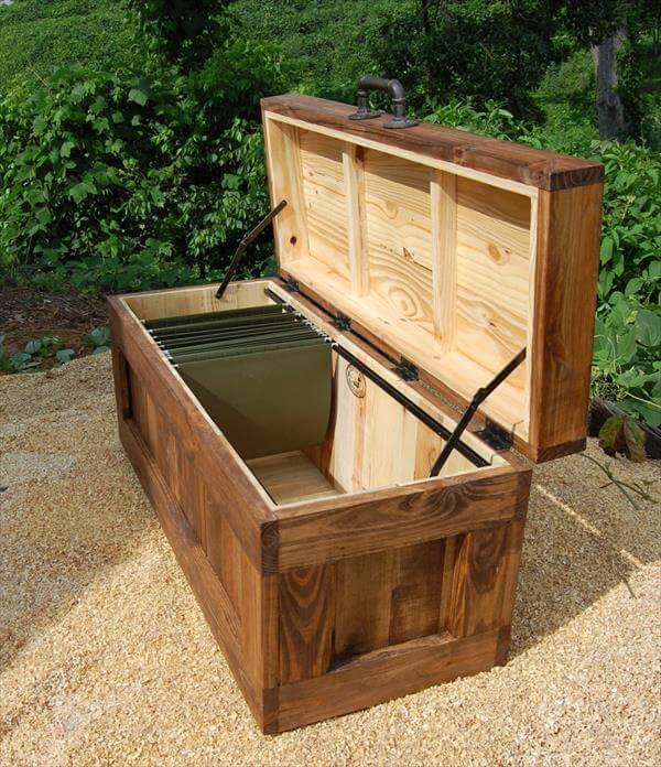 Best ideas about DIY Storage Chest . Save or Pin DIY Pallet Wood Storage Chest or Trunk Now.