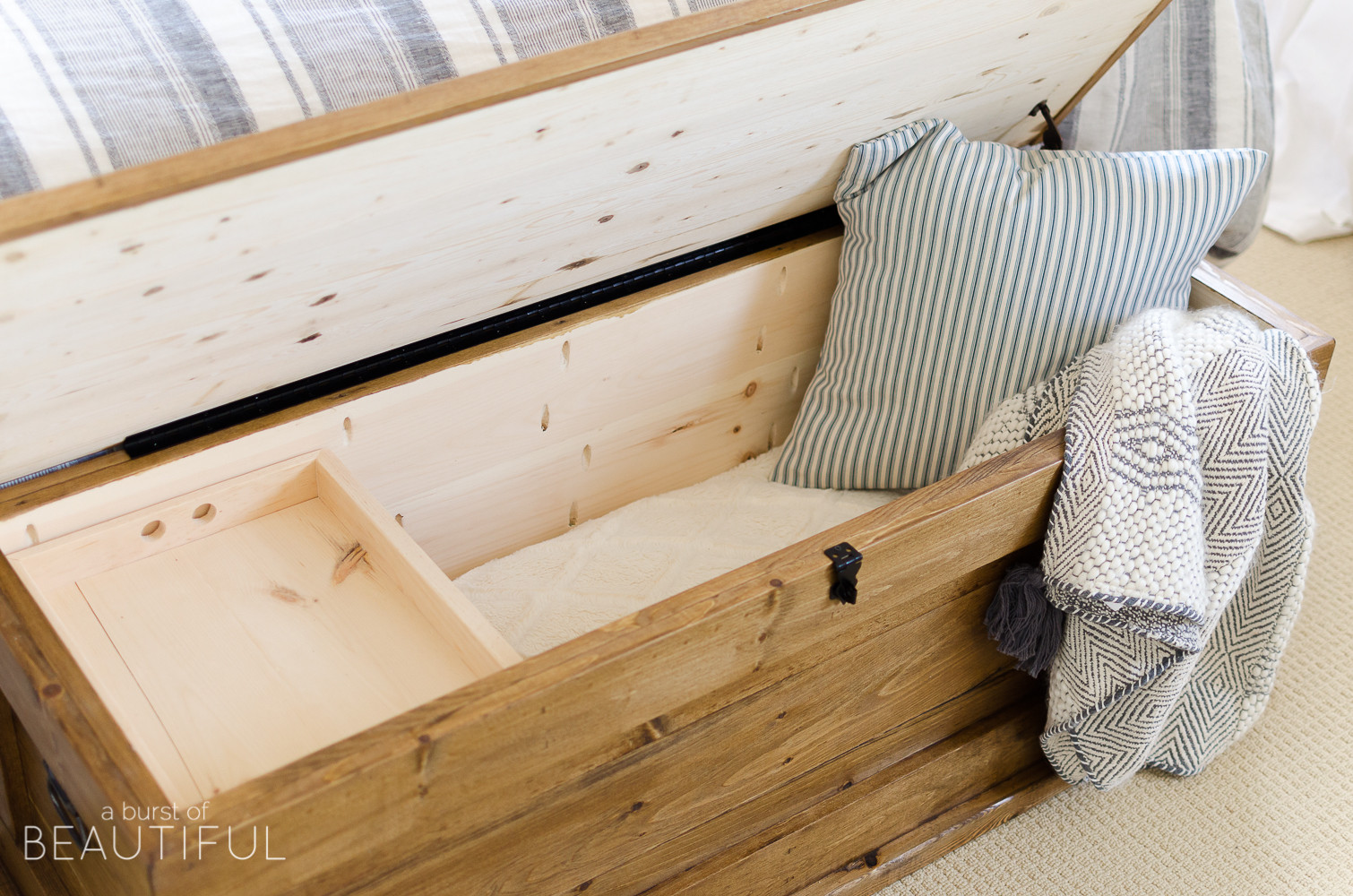 Best ideas about DIY Storage Chest . Save or Pin DIY Blanket Storage Chest A Burst of Beautiful Now.