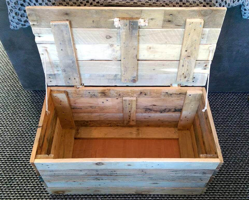 Best ideas about DIY Storage Chest . Save or Pin DIY Wood Pallet Toy Storage Box Now.