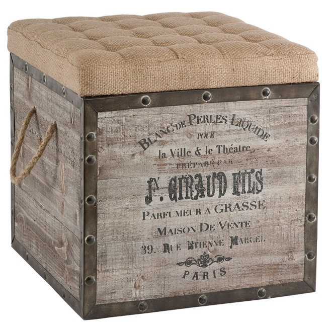 Best ideas about DIY Storage Ottoman Cube . Save or Pin DIY Wine Box Ottoman Now.