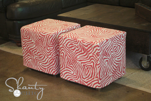 Best ideas about DIY Storage Ottoman Cube . Save or Pin DIY Cube Ottoman Slipcover Shanty 2 Chic Now.