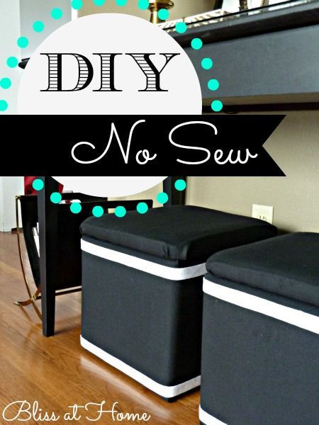 Best ideas about DIY Storage Ottoman Cube . Save or Pin DIY No Sew Fabric covered storage cubes DIY Now.