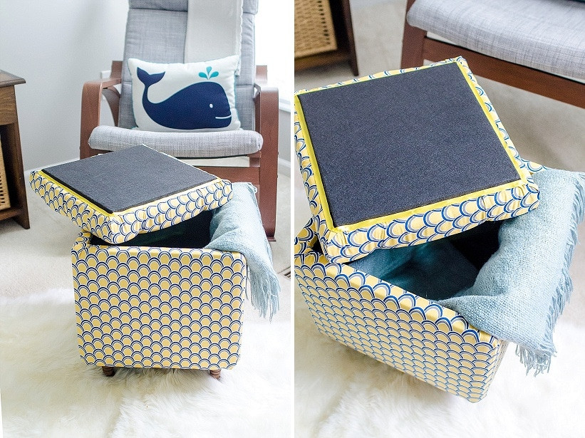 Best ideas about DIY Storage Ottoman Cube . Save or Pin DIY Tutorial How to Make a DIY Storage Ottoman Part 2 Now.
