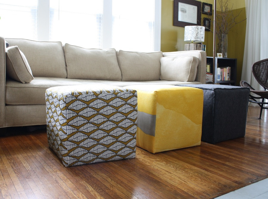 Best ideas about DIY Storage Ottoman Cube . Save or Pin Three DIY Ottomans Now.