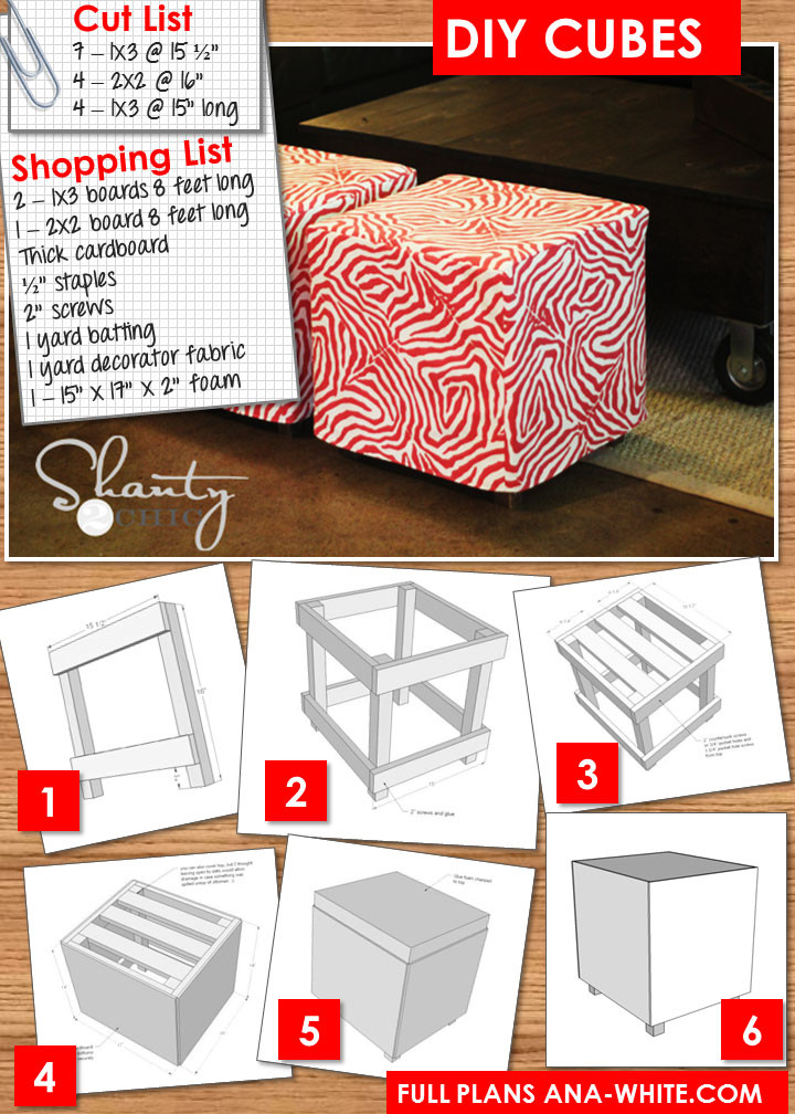 Best ideas about DIY Storage Ottoman Cube . Save or Pin DIY $20 Ottoman Shanty 2 Chic Now.