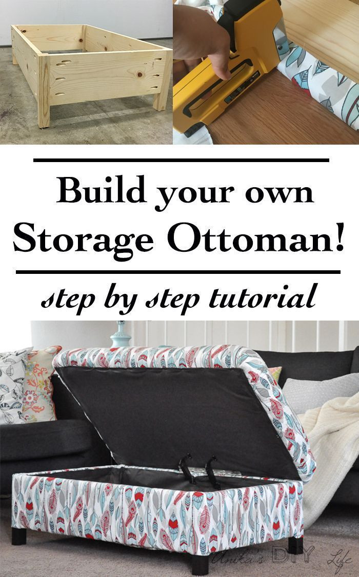 Best ideas about DIY Storage Ottoman Cube . Save or Pin DIY Upholstered Storage Ottoman Now.