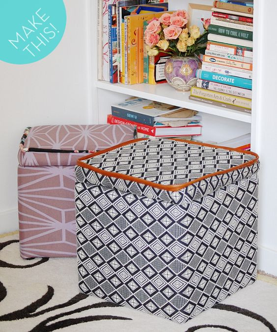 Best ideas about DIY Storage Ottoman Cube . Save or Pin Ottomans Storage and How to make on Pinterest Now.