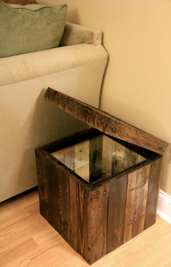 Best ideas about DIY Storage Ottoman Cube . Save or Pin DIY Pallet Storage cube Ottoman Now.