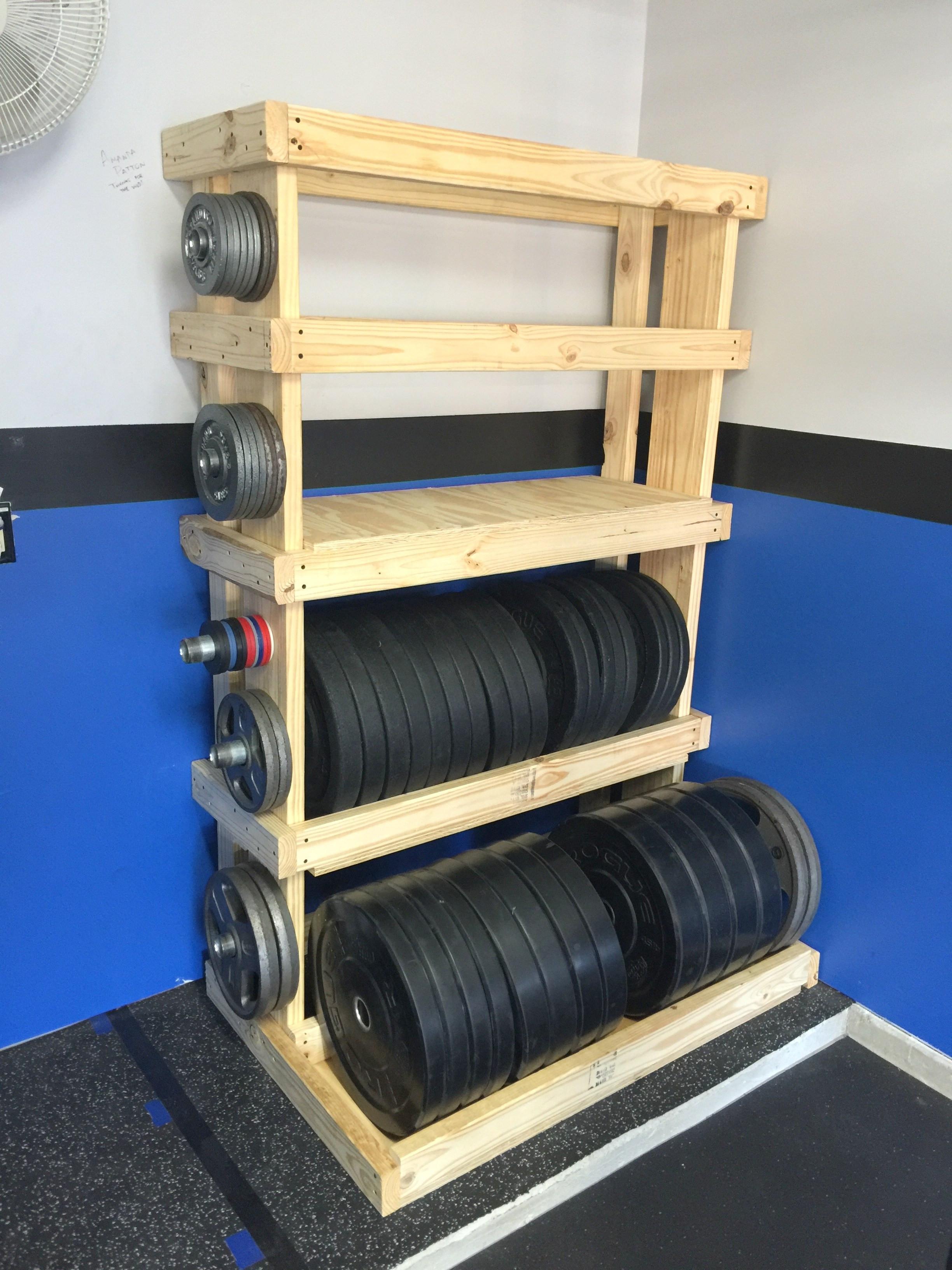 Best ideas about DIY Storage Rack . Save or Pin DIY – Custom Garage Gym Weights Rack – Munson Mischief Now.