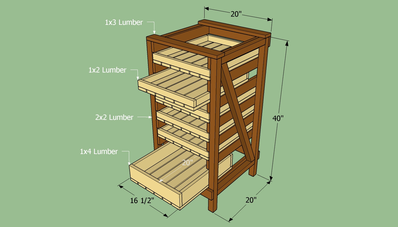 Best ideas about DIY Storage Rack . Save or Pin How to build food storage shelves Now.