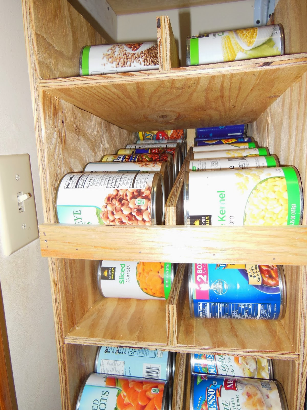Best ideas about DIY Storage Rack . Save or Pin DIY FIFO Can Rack – Summers Acres Now.