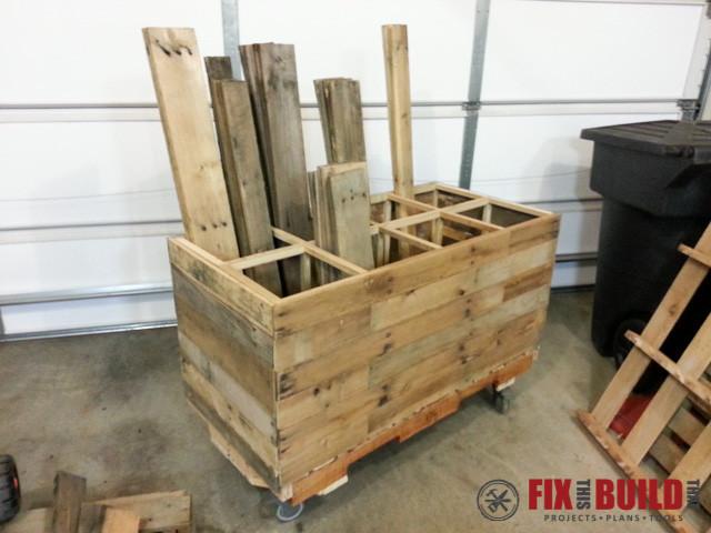 Best ideas about DIY Storage Rack . Save or Pin DIY Pallet Wood Storage Rack Now.