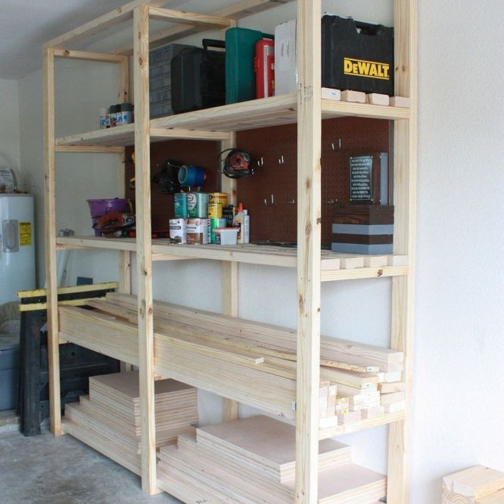Best ideas about DIY Storage Shelf Plans . Save or Pin Easy DIY Garage Shelving Now.