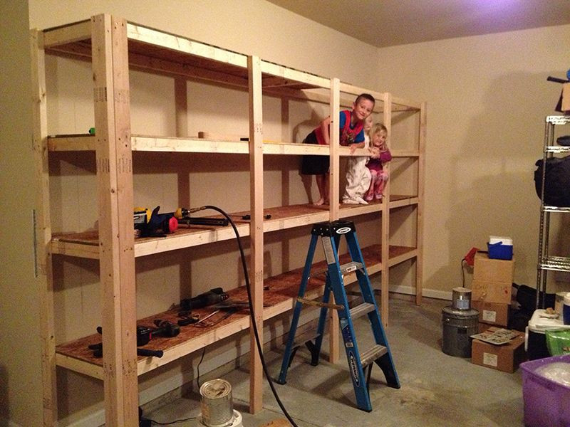 Best ideas about DIY Storage Shelf Plans . Save or Pin How to Build Sturdy Garage Shelves step by step Now.