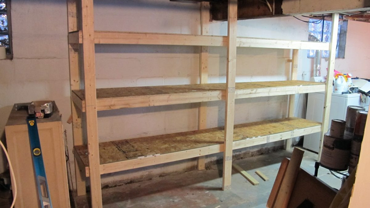 Best ideas about DIY Storage Shelf Plans . Save or Pin DIY Basement Shelves In A Day Now.